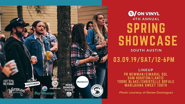 Getting hyperlocal this Saturday before we (completely) lose our city to a sea of beautiful animals - excited to support @onvinylmedia's fourth annual Spring Showcase! Come on through South Austin and dip your toes into the madness - for SXSW is upon us!