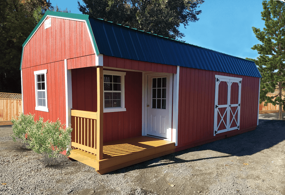 Side Porches | Porches Custom Storage Shed Options Summit Structures Of Oregon