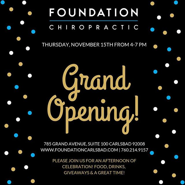 Save the date! Thursday, Nov 15th from 4-7 pm we will be celebrating our Grand Opening! Can't wait to have you all!