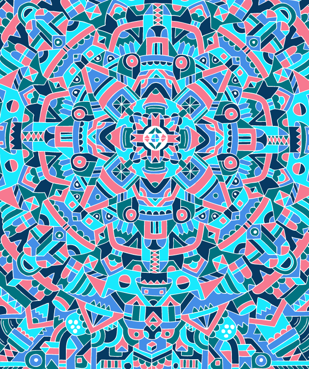 Switch   by  Sam Perkins   - This image serves as an example of a single frame of typical level 4 psychedelic geometry.