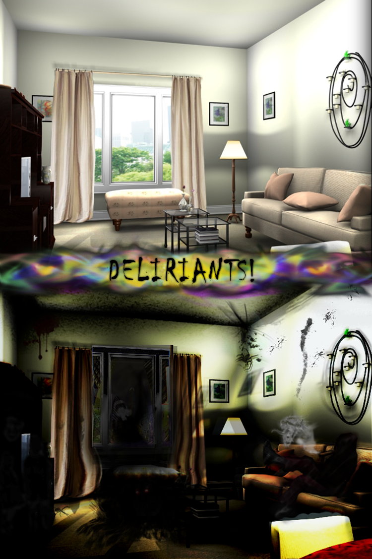 Deliriants by Anonymous /deli/ user - This image represents the sinister external hallucinations commonly induced by deliriants.