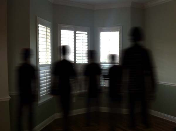 Shadow group  by   Anonymous   - This image serves as an accurate replication of a group of shadow people.