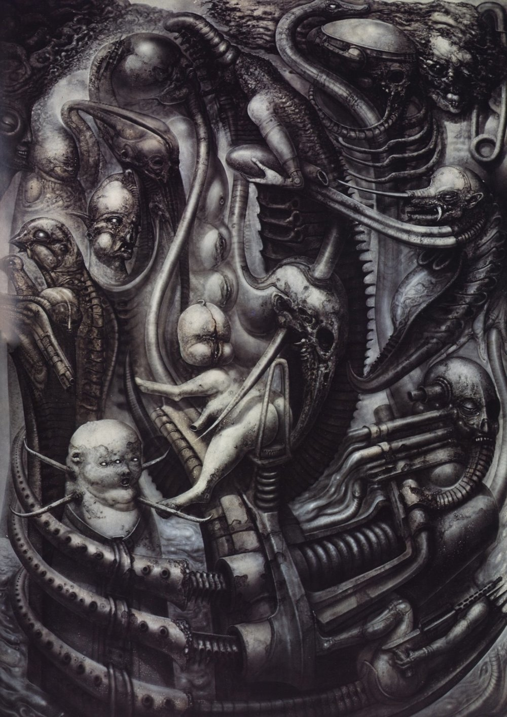 National Park  by   H.R Giger   - this image serves as an accurate example of a single frame of unspeakable horrors.
