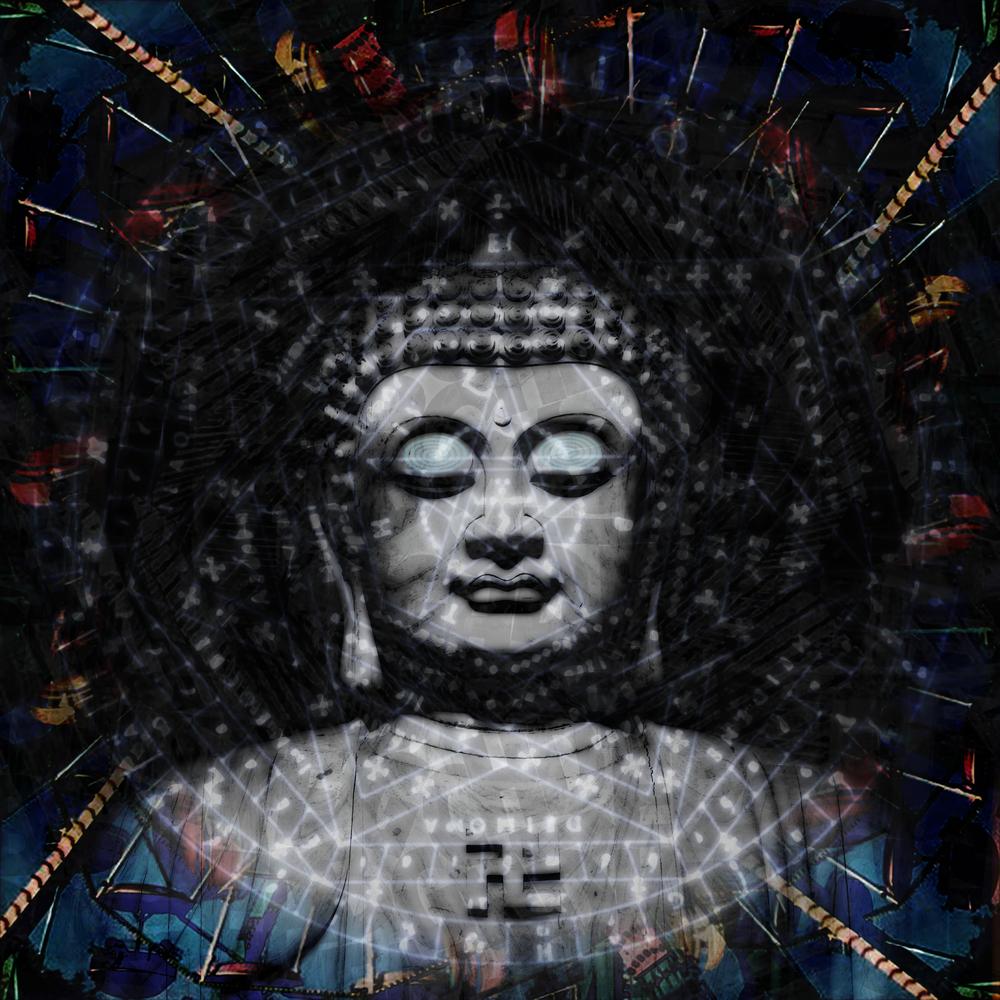 Buddha closed eye visuals (LSD)
