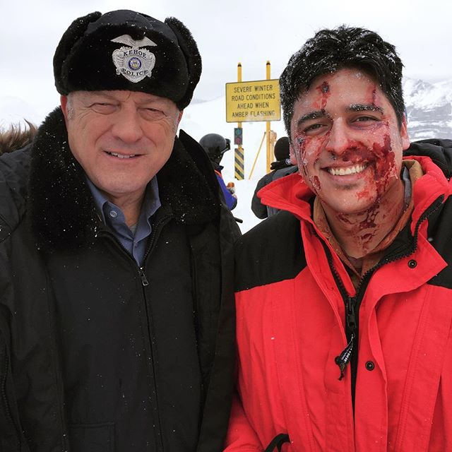 No matter how many times I always get giddy on set .. great working with you John Doman ! • • • • #lovewhatido❤️ #actorlifestyle #actorsaccess #onsetlife #specialeffectsartist #bloodymakeup #funtimes❤️ #smileys #red #redcoat #policeacademy #dreamchasernorway #dreamschool #actorslife🎬 #happytimes❤️ #livingthebestlife #lifestylewear #bloodypainter