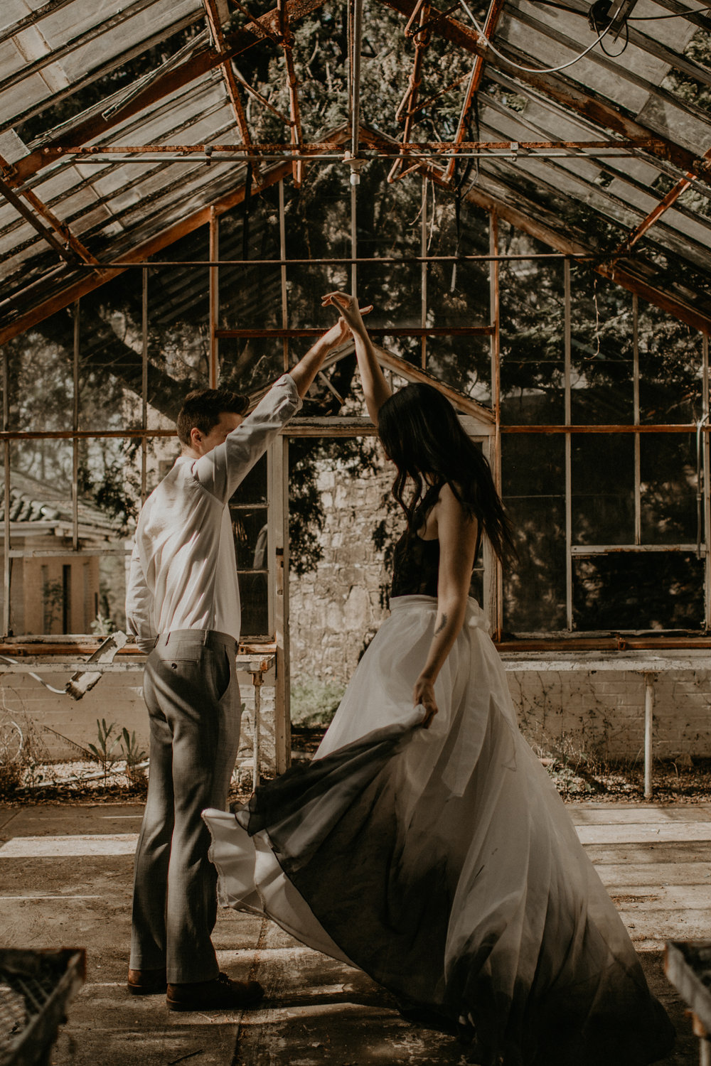 abandoned greenhouse elopement | atlanta, ga