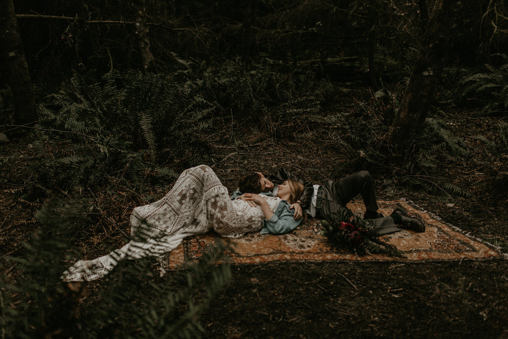 Intimate elopement in the woods | Point defiance park, tacoma wa