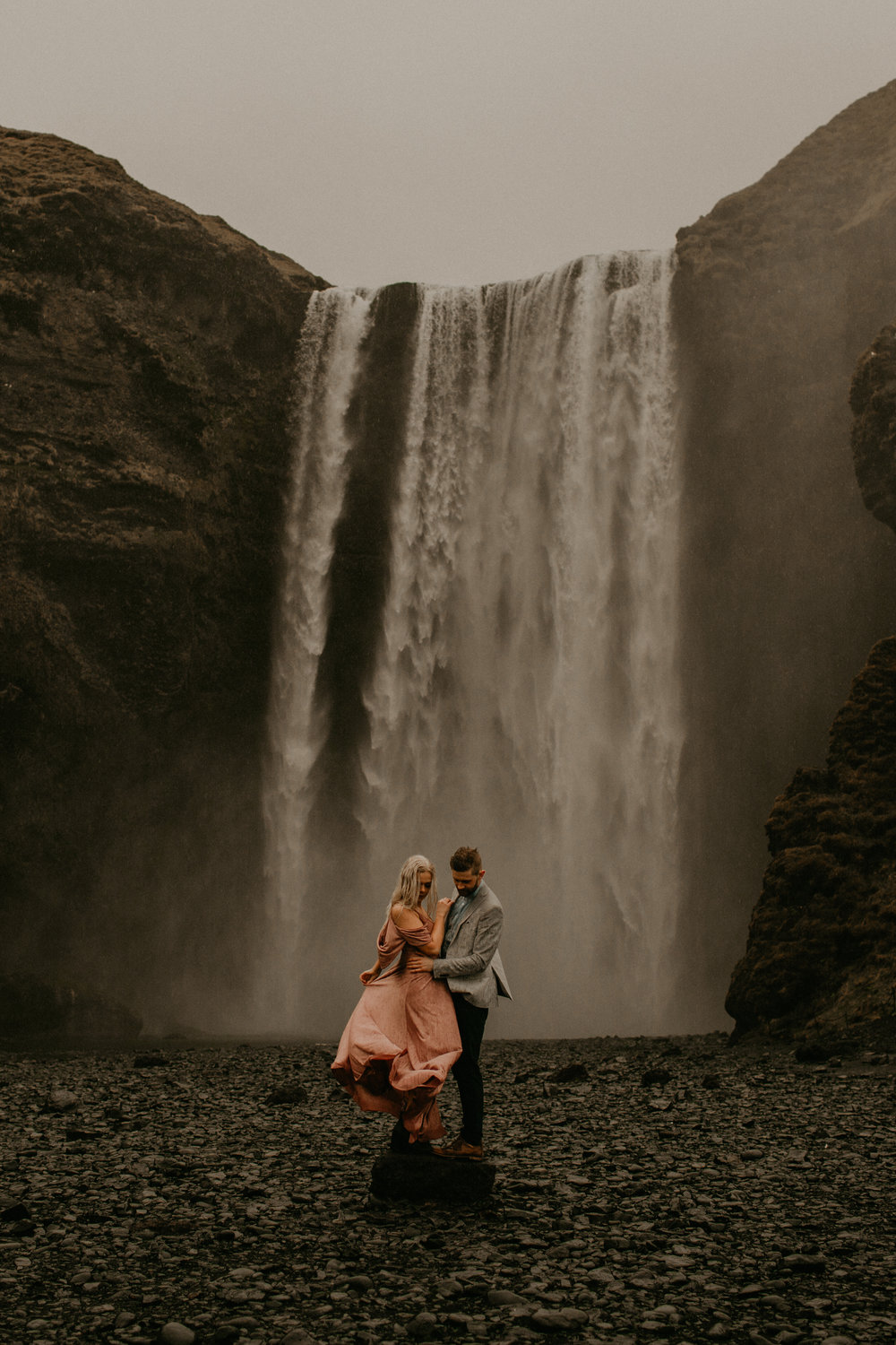 waterfall wondering in iceland | Iceland