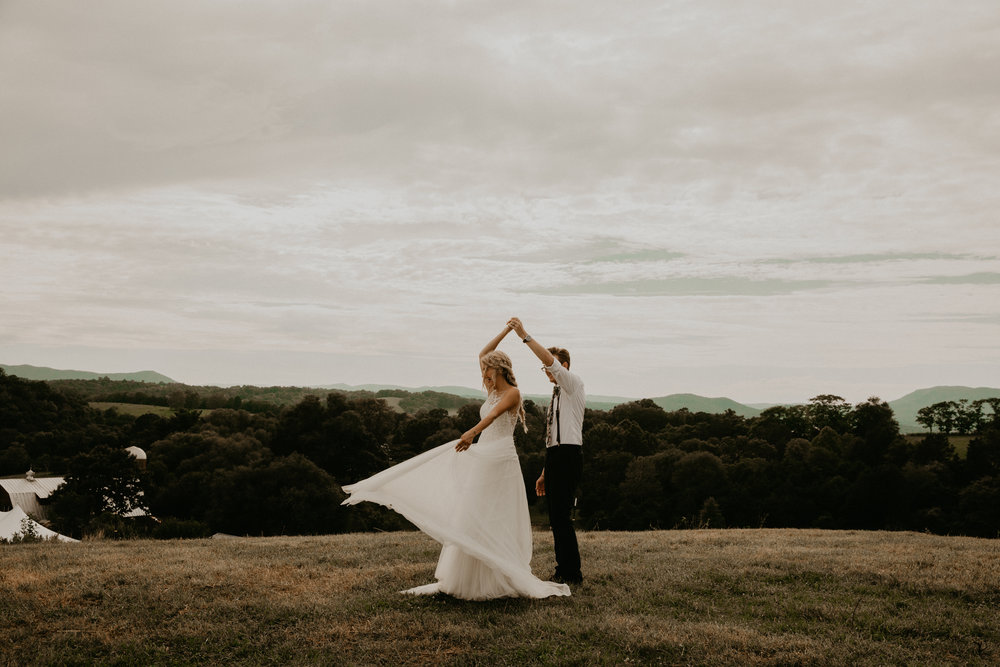 mountain top intimate wedding | va