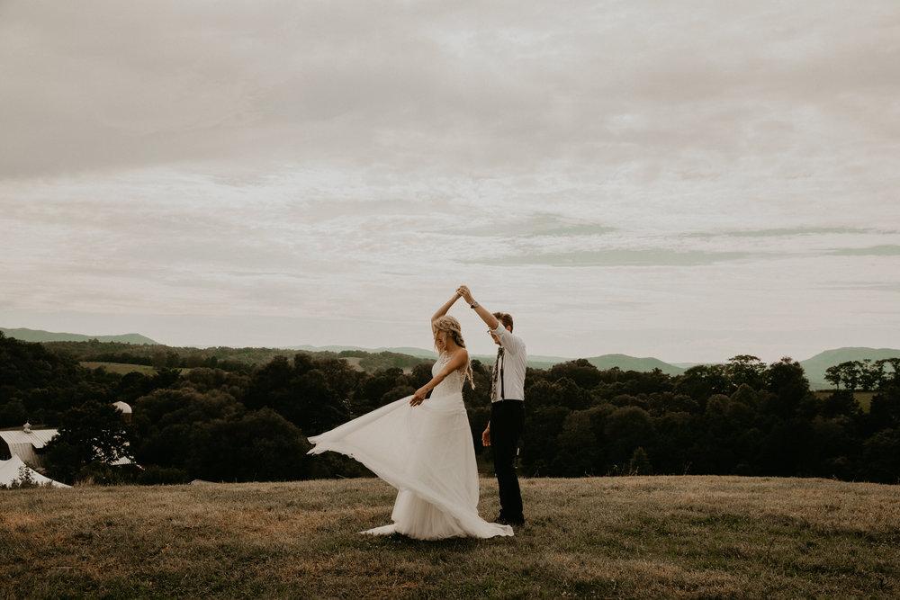 mountain top intimate wedding | va
