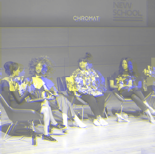 "The ""Fashion Culture and Justice: A NYFW Dialogue"" Panel held at Parsons School of Design"
