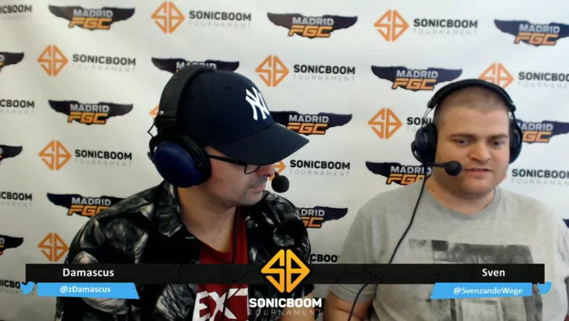 On the Right: Sven, after winning a tournament match in Madrid for Street Fighter 5.