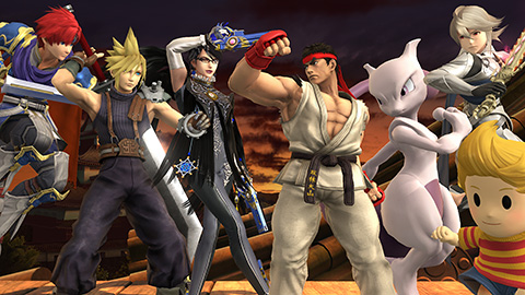 Post release content and updates help keep the competitive scene vivid and fresh. Listed above: All 7 DLC characters added to Super Smash Bros. 4