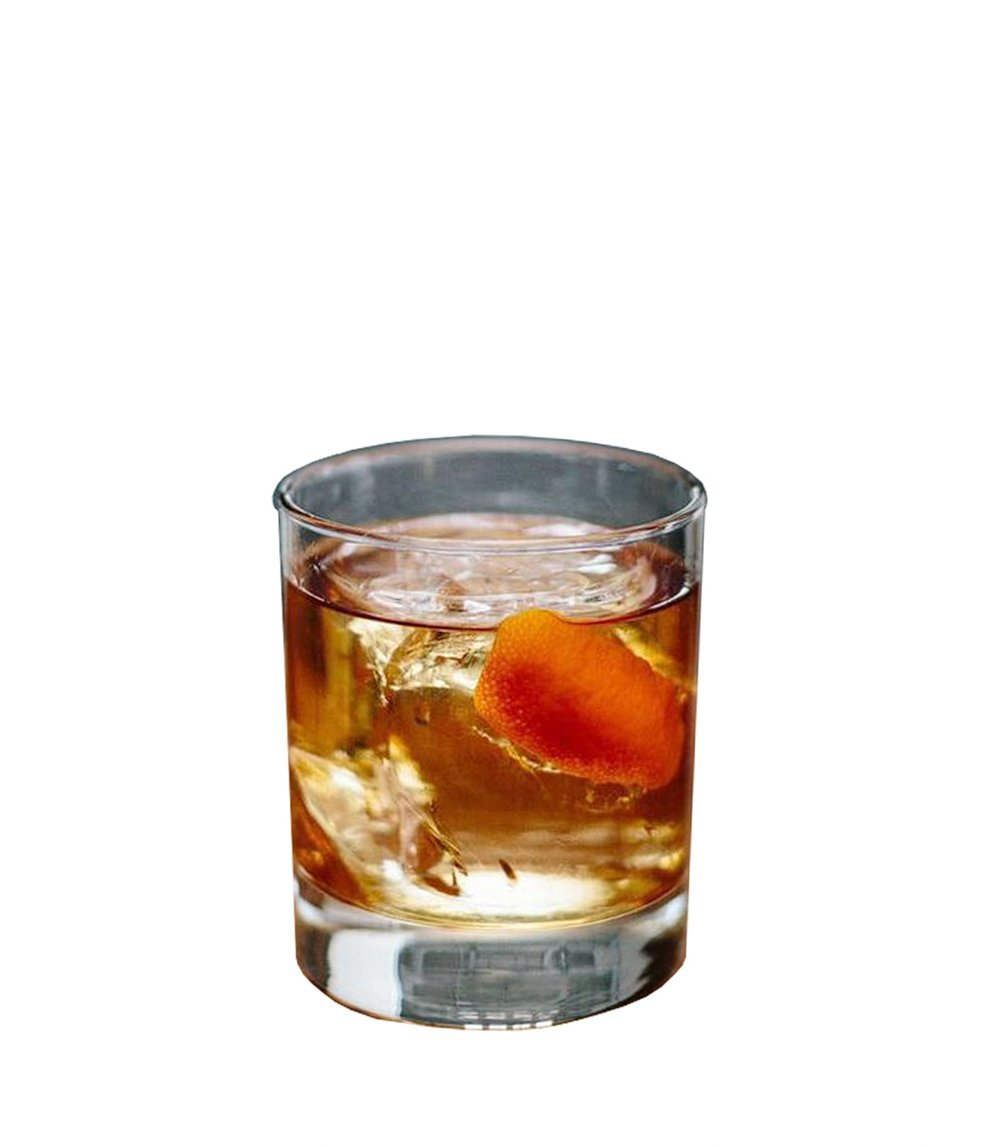 AQUAVIT OLD-FASHIONED  3 dashes Angostura Bitters 2ml Raw Simple Syrup* 60ml Norseman Aquavit  Build on a large ice cube and garnish with an elongated piece of orange peel.