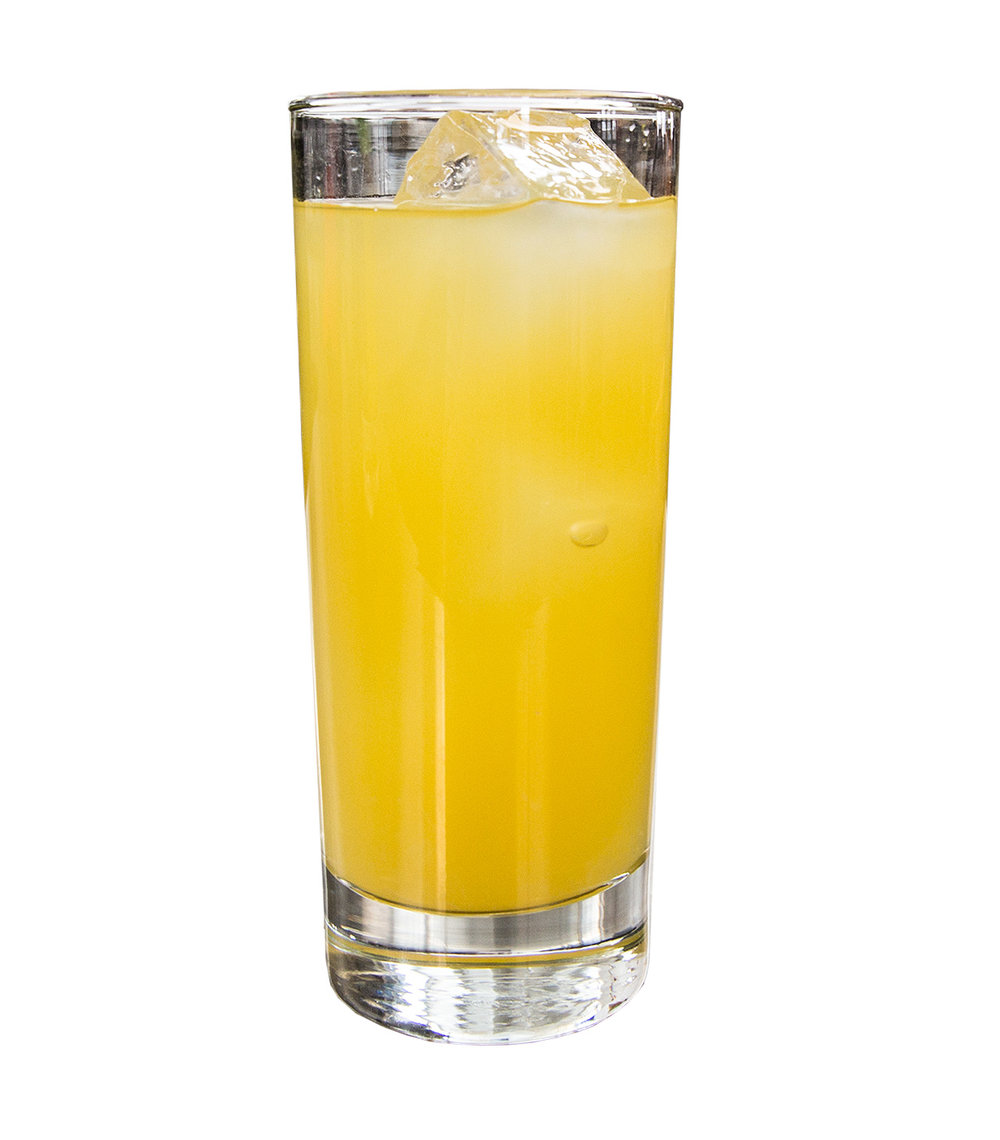 HARVEY WALLBANGER  40mL Norseman Acadia Liqueur 40mL Norseman Vodka 95mL Orange Juice  Build on ice stack in collins glass.