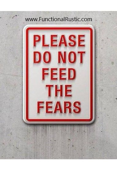And a friendly reminder to NOT feed the fears. Human beings arent meant to fear ANYTHING, we dont need to. But for some reason we do. Where there is fear there is a lack of understanding. This life takes a warrior.