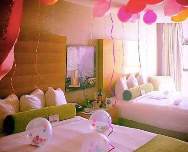 That's more like it! The amazing independent hotel Whitney Peak Hotel pulls out all the stops to celebrate their guests. Photo Credit: Whitney Peak Hotel - Instagram:  @whitneypeakhotel