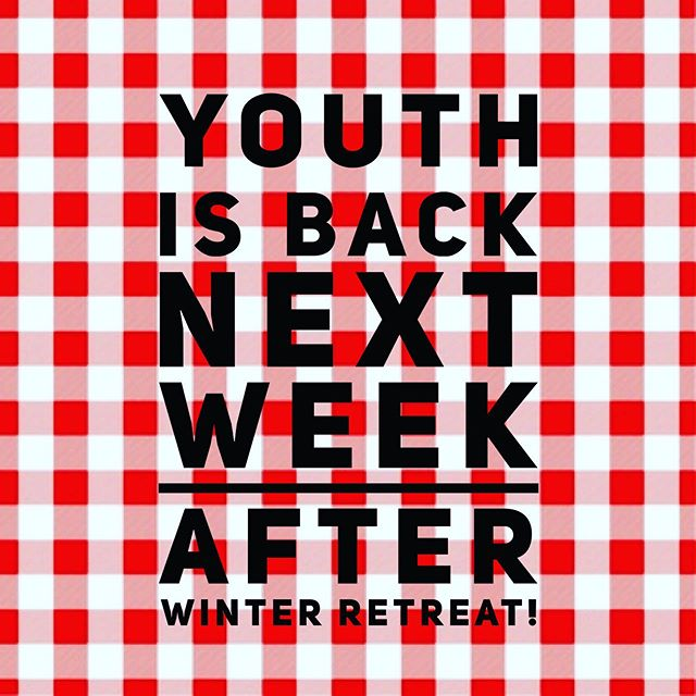 Starting January 23rd with a Middle School Bonfire Cookout at the Patterson's and January 27 High School dinner and large group! Details to follow!