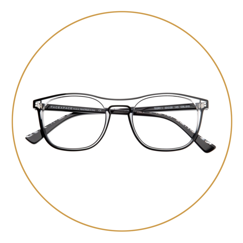 CLEAR FRAMES - One of the great things about clear frames is their versatility. They work from day to night and look striking on men and women.
