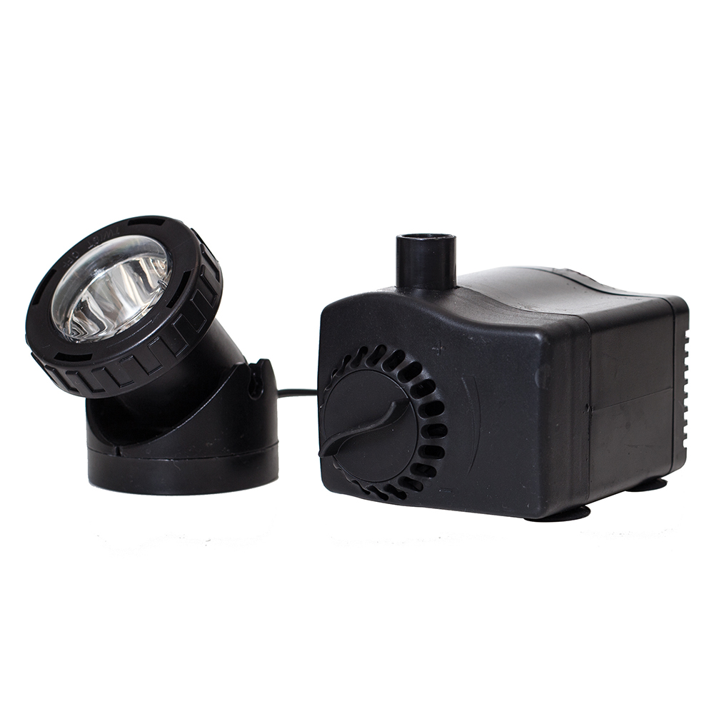 400 GPH Fountain Pump with Auto Shut-Off & LED Light