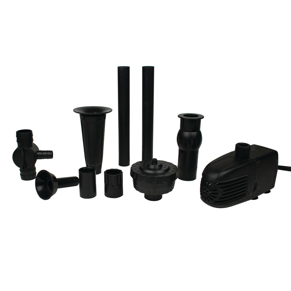 330 GPH Pond Pump with Nozzle Kit