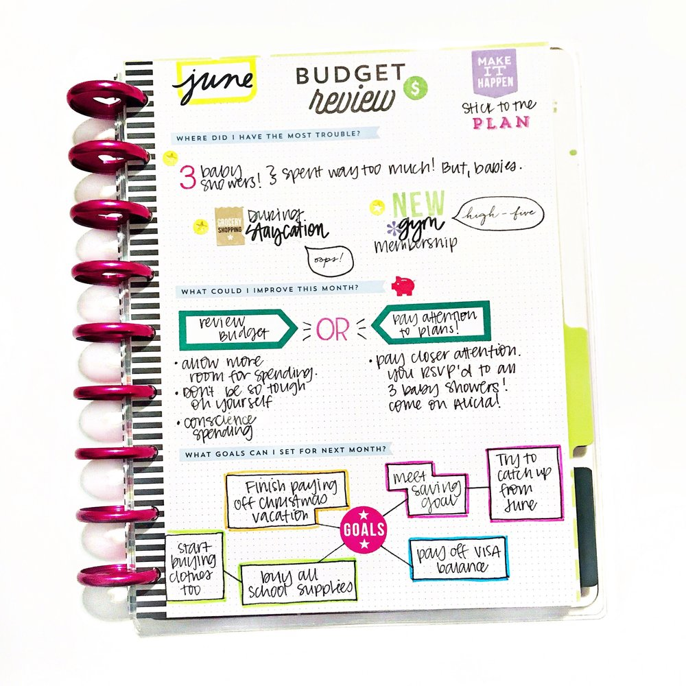 budget review guest blogger alicia gonzalez the happy planner