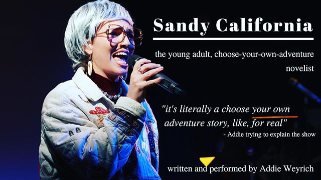 she's back with some new added chapters 😏 Sandy California at @phitcomedy on Sunday 12/30 at 9pm my baby sweets 😘 photo by my favorite @carlyhoogs