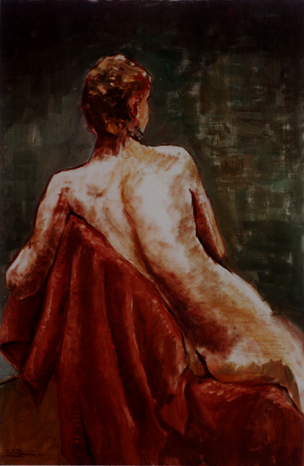 Nude with Red Blanket