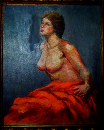Half-Nude with Orange Blanket