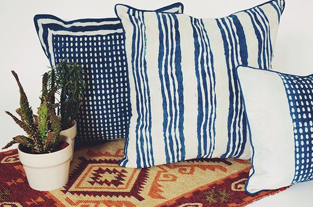 YONA's Indigo collection, hand block printed using natural dye and a traditional mud resist technique. Designed in London and produced by artisans in the village of Bagru, India 🌿 . . . . #yonahome #plantsplantsplants #naturaldye #botanical #indoorplants #blueandwhite #nature #vegan #artisan #handcrafted #plantbased #ecofriendly #ecofriendlyfashion #interior #jungalowstyle #striped #crueltyfree #vegetarian #makersgonnamake #dye #printmaker #indigo #natural #botanical #handmade #slowfashion #ethical #blockprint #india