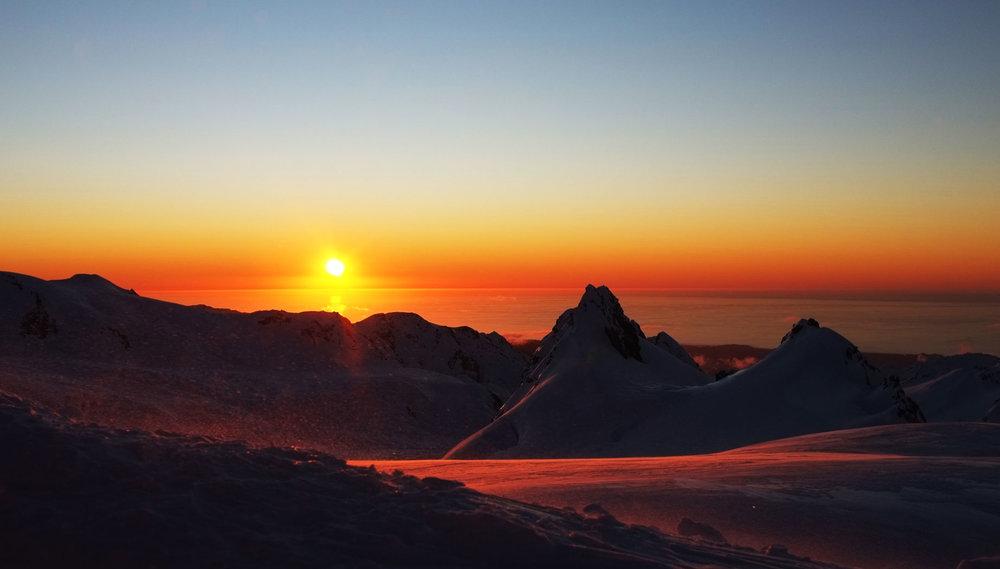 Fox Glacier sunset