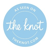 """Click on the logo to Check out      our awesome reviews on                 """"The knot"""""""