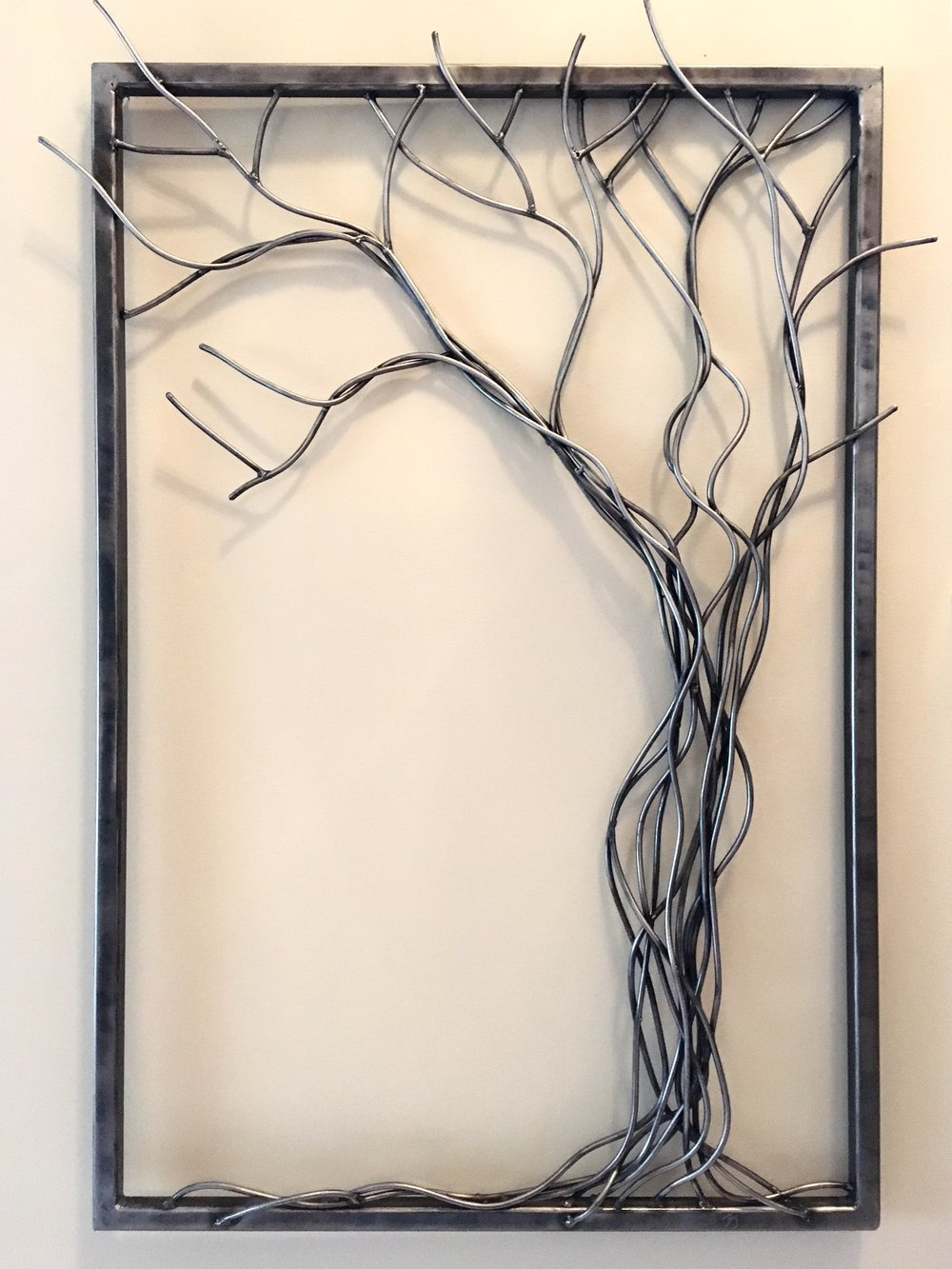 Daphne | Steel Rod | Wall Sculpture