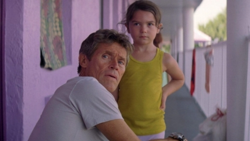 "Willem Dafoe and Brooklynn Prince in ""The Florida Project"""