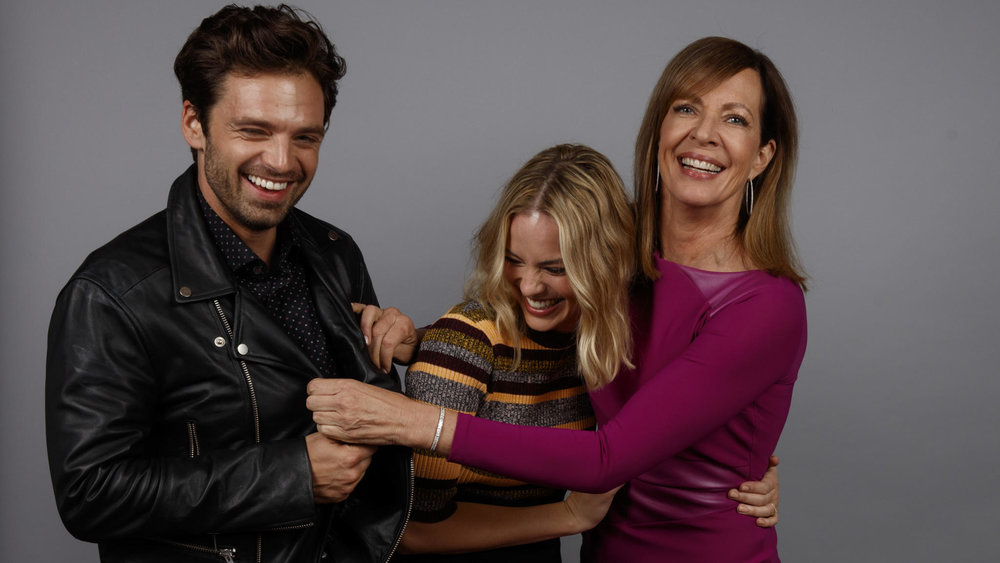 "1. THE CAST OF ""I, TONYA""  -  Allison Janney, Margot Robbie, Sebastian Stan. Paul Thomas Hauser and Juliette Nicholson (not pictured)   ""In terms of dealing with the tone, it was one of the biggest challenges, and I didn't want to judge the characters or just make fun of them, which would have been too easy. There's comedy, but you also see that, with the domestic violence, Tonya's kind of immune to it. She's desensitized to it, and I felt that that also gave more insight into her character. I also shot those scenes both ways too, so I had a choice in the editing. And then it changes to Jeff's point-of-view, and he breaks the fourth wall about half-way through the movie, so there was a lot to work with in the edit.   (Regarding Margot Robbie):  It's such a tightrope to walk in terms of the tone, and she ages from 15 to 46, so there are all the different ages and scenes that are absurdly dark and funny, and scenes that are incredibly emotional. It was the whole kitchen sink, but I knew that Margot could navigate that tricky dance between the humor and the drama, and also keep it grounded and not wink at the audience, and she's brilliant in the role.   (Regarding Allison Janney):  Steve (Steven Rogers, screenwriter) actually wrote the role for her. She's so ferocious and fearless when you consider some of her dialogue is so vile. There were days when she'd say, ""Do I have to say the 'c' word again?"" And I'd say, ""Yeah, you do."" But she delivered it all in a way where you still like her."" -  director Craig Gillespie, Randi Altman's Post Perspective, December 18, 2017"