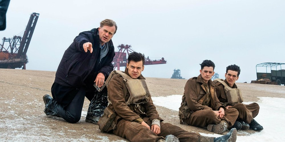 "9. CHRISTOPHER NOLAN | Director and Writer | DUNKIRK   ""It's one of the great human stories, and it's one of the most suspenseful situations that I had ever heard of in my life. You have 400,000 men – the entire British army – trapped on the beach at Dunkirk. Their backs to the sea, home is only 26 miles away and it's impossible to get to. The enemy is closing in, and there's a choice between annihilation and surrender. I just think it's the more extraordinarily suspenseful situation. That, I think, speaks to a lot of things that I am interested in with film.  I think people who know the story of Dunkirk, in particular, may be surprised by the intensity of the experience. It's a very suspenseful story and we really try to do justice to that. The pacing is relentless, and the story and action scenes are extraordinarily intense. I think the lean, stripped-down nature of that, and how fast it moves, and what it puts you through in this short space of time… I think it has a different rhythm that I've worked in before.  I'm an incredible lover of silent films. The challenge of taking on what I call a present-tense narrative – that is to say, we don't learn a lot about the people we're experiencing this with. We really just try to live in the moment and experience it with them, and look through their eyes. That was the challenge of the film, and as it is shaping up I think that, for me, is the thing that I challenged myself the most with and I am excited about that."" -  Fandango, March 30, 2017"