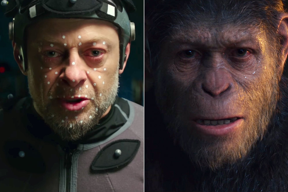 "14. ANDY SERKIS | Caesar | WAR FOR THE PLANET OF THE APES    (On motion-capture acting):  ""There is no difference from an acting point of view. The approach is no different to a live-action role. It's not standing in a voice booth for two hours every six months, it's living with that character day-in and day-out on set for the entire duration of the shoot, living and breathing every single moment, making acting choices that you would do in the conventional sense. The performance is not augmented or changed by a committee of animators. It is honored, and the fidelity is sought to translate that performance. In the past, it's almost felt like performance capture is kind of like a drug-assisted sport. Now that's just not true. The performance is the performance.  If that character was a human being, it would be an extraordinary journey. But as an ape and having that kind of filter, it's that times 10 really; because we're able to look at the human condition through the eyes of apes, it just elevates it into something else.""   (On playing Caesar in the final film):  ""I really feel the loss of not being able to play that character anymore. It's been thrilling at every turn, and a real challenge; a massive challenge with each movie. There are key points along the way where he shifts and they've all been incredibly fascinating to chart.""   (On the industry embracing motion-capture acting):  ""It's absolutely about performance. It's opening up great avenues for next-generation storytelling. So, I think the acting community really needs to embrace it."" -  Deadline 