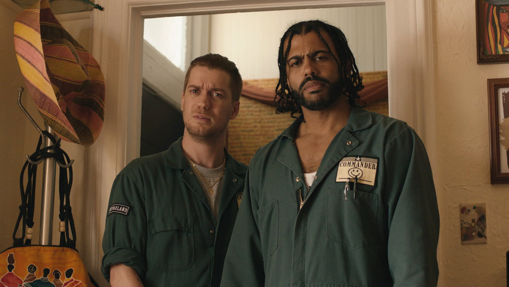 "6. DAVEED DIGGS, RAFAEL CASAL | as Collin (Diggs) and Miles (Casal) and as Screenwriters | BLINDSPOTTING    On the eve of his parole, a man sees a life-long friendship potentially changed after witnessing a white police officer's killing of an unarmed African-American man in his hometown of Oakland, California.    Casal:  ""Collin and Miles essentially are siblings. They've always been around each other. They've helped each other survive for so long. They're a little two-person gang, right? Even when they're with a different group of people, it's them two. And they've, to a certain degree, developed as adult men entirely together. Their context is changing—that's the catalyst for the film. They don't have an issue with each other. It's the rest of the world that is treating them in these new and destructive ways, and they're both trying to reconcile those internally and how that affects [their] relationship.""   Diggs:  ""I think the stakes felt high when we started working on it. It unfortunately still feels very high, sort of differently, in that our capacity for apathy is so high these days…But for us as artists, it was just about telling the story and being honest about the space and circumstances. And then when we step back from that, when we get to hold a mirror up to the world as close to exactly as it is, all of a sudden you're like,  That's f***ed .  We should probably do something about that.  ""   (Diggs, on a much-discussed scene, near the end of the film):  ""…We both came up through Youth Speaks, a spoken-word youth program. You teach your kid poetry because nobody cares what they have to say unless they make it sound pretty. So we wanted to get to a point where Collin has to be heard. The stakes are life and death. What he needs is to be heard by the object of all of his trauma; this person is the nightmare that's been haunting him. So he's going to have to make it sound real and use all the lessons he's been learning from Miles over the course of the film about salesmanship to really sell this idea of understanding. That's why we learned how to write poems in the first place was in order to be heard."" -  The Atlantic, July 21, 2018"
