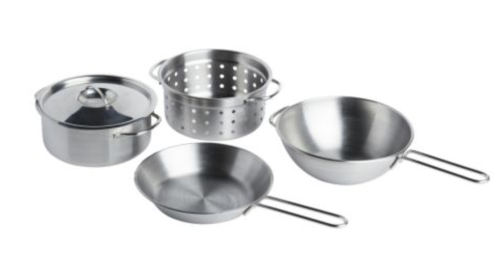 DUKTIG 5 PIECE TOY COOKWARE SET -