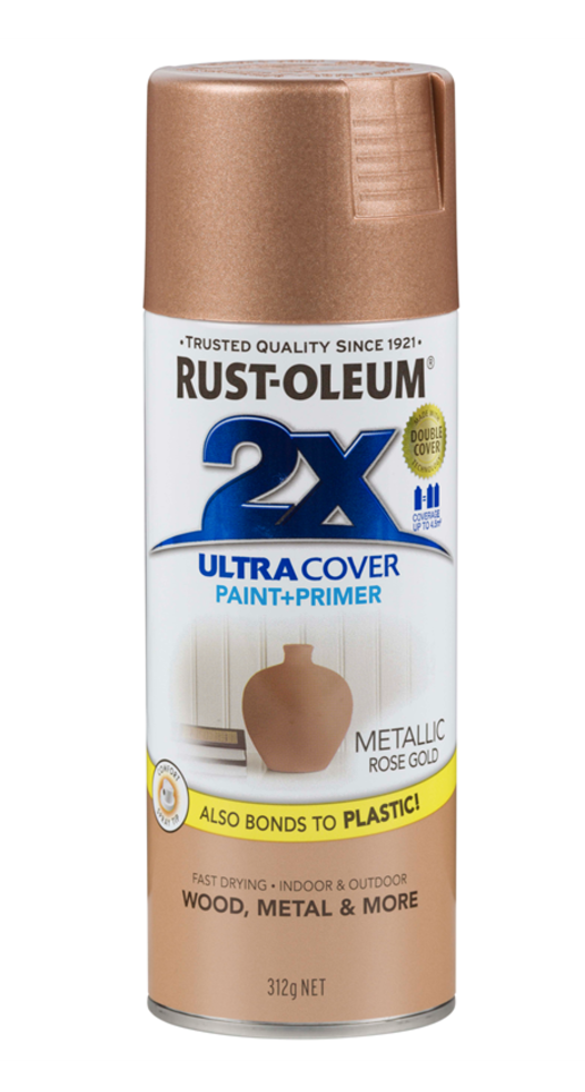 RUST-OLEUM METALLIC ROSE GOLD SPRAY PAINT -