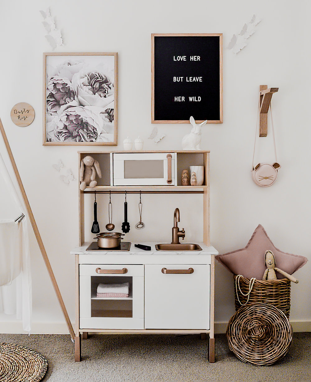 My rose gold Ikea hack kitchen — Zephyr + Stone