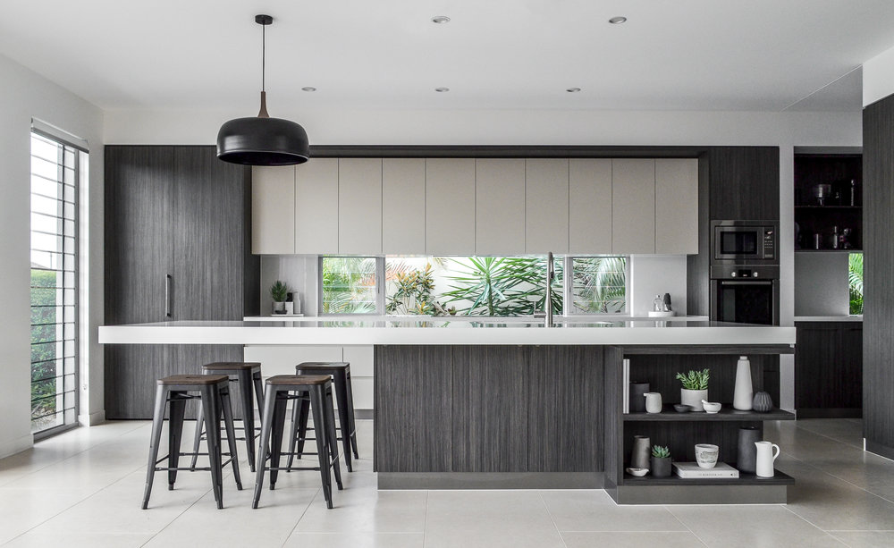 The kitchen in their most recent project