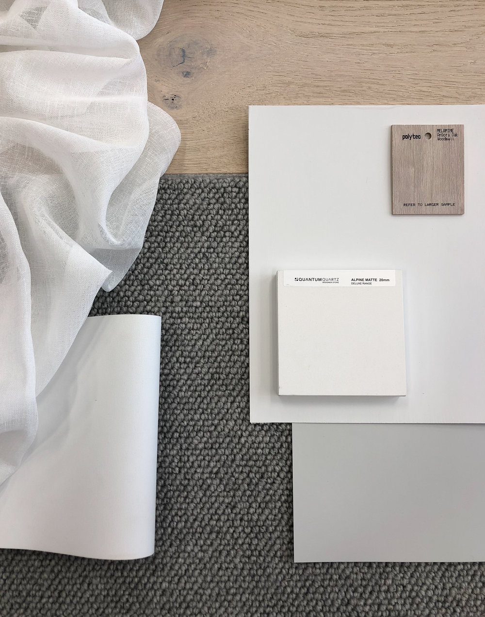 Scandi Townhouse Material Samples