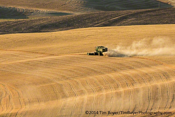 Harvester from Steptoe, taken with a 400mm lens.
