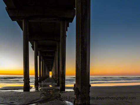 Scripps Institute Pier aat sunset.