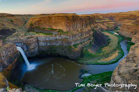 Palouse Falls at sunrise. A very early morning, but worth the long drive and sleepy eyes. A magical place.