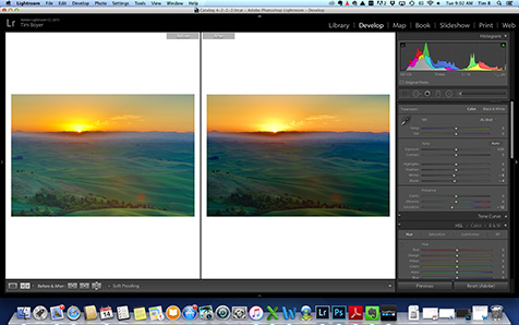 Before and after the Graduated Filter Adjsutment.
