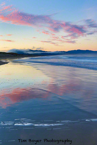 The beach at Pacific City just before sunrise.