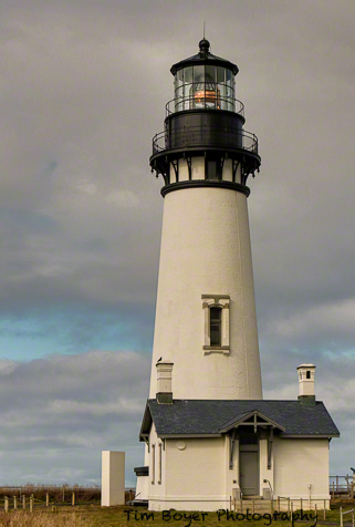 The Yaquina Head Lighthouse.
