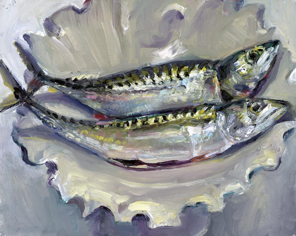 Two Mackerel,  Leslie Bowman